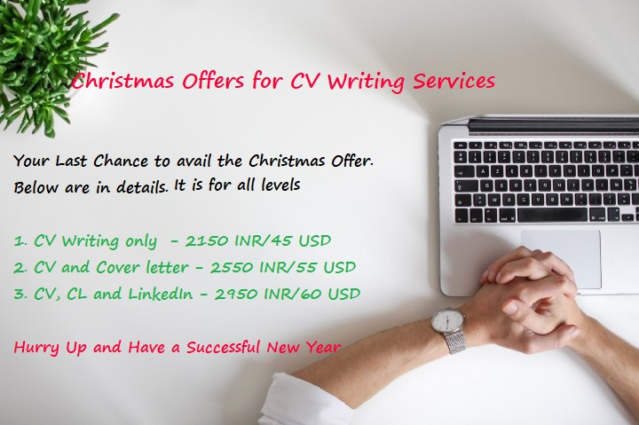 Christmas Offers on CV Writing Packages